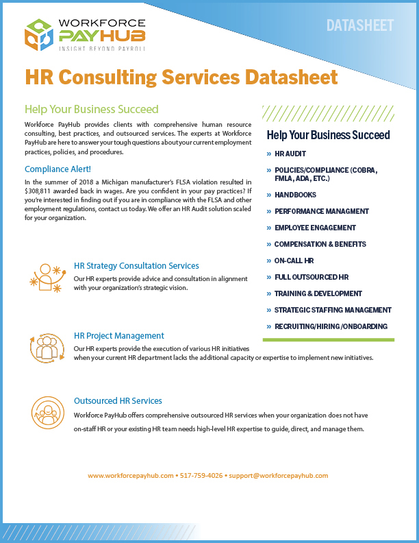 Michigan HR Outsourcing Services Datasheet
