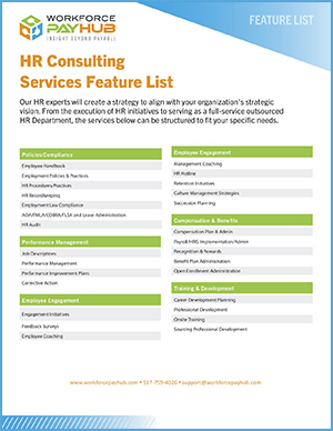 Feature List for Outsourcing Human Resources in Michigan