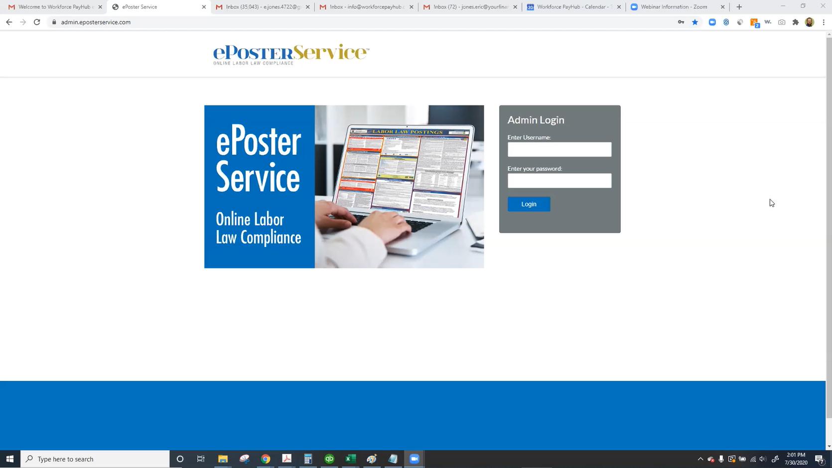Workforce Webinar: ePoster Update